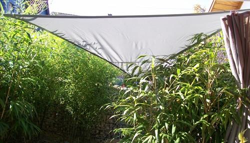 yaccu sonnensegel sonnenschutz 7x7x7 m dreieck polar grau garten terrasse neu ebay. Black Bedroom Furniture Sets. Home Design Ideas