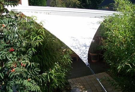 yaccu sonnensegel wasserdicht quadrat 4x4 m natur creme terrasse balkon garten ebay. Black Bedroom Furniture Sets. Home Design Ideas