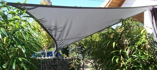 yaccu sonnensegel wasserdicht rechteck 4x3m polar grau terrasse balkon garten ebay. Black Bedroom Furniture Sets. Home Design Ideas